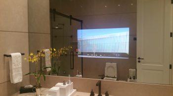 TV Espelho Banheiro